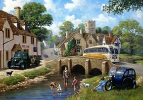 Pastime at the River - L/E Print, Jigsaw - Falcon U.K. - Nostalgia Collection #142